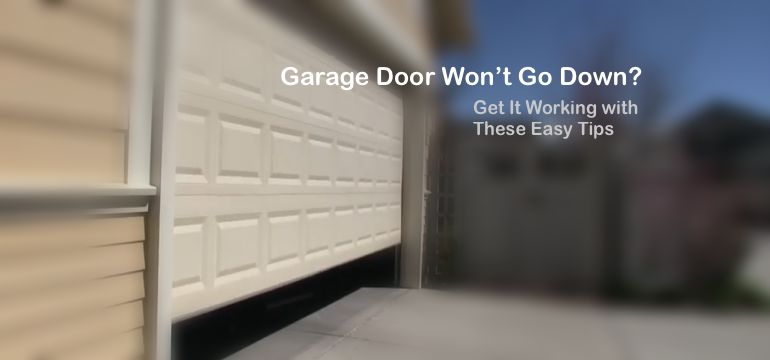 Why-garage-door-is-not-going-all-the-way-down
